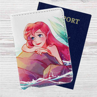 Ariel Disney The Little Mermaid Custom Leather Passport Wallet Case Cover