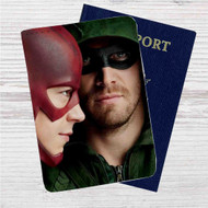 Arrow The Flash Custom Leather Passport Wallet Case Cover