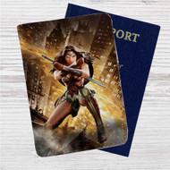Batman v Superman - Wonder Woman Custom Leather Passport Wallet Case Cover