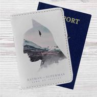 Batman Vs Superman Custom Leather Passport Wallet Case Cover