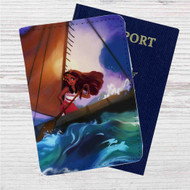 Disney Moana at Sea Custom Leather Passport Wallet Case Cover