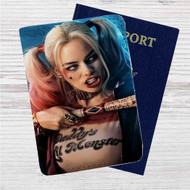 Harley Quinn Suicide Squad Movie Custom Leather Passport Wallet Case Cover