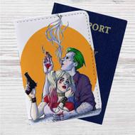 Joker Harley Quinn Custom Leather Passport Wallet Case Cover