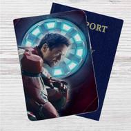 Tony Stark Iron Man Marvel Custom Leather Passport Wallet Case Cover