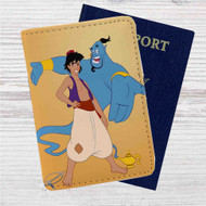 Aladdin and the Genie Disney Custom Leather Passport Wallet Case Cover