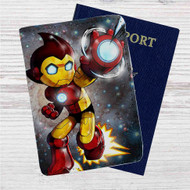 Astro Boy Iron Man Stark Industries Custom Leather Passport Wallet Case Cover