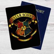 Avatar The Last Air Bener School Custom Leather Passport Wallet Case Cover