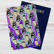 Bart Simpsons Custom Leather Passport Wallet Case Cover
