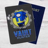 Borderlands Welcome Vault Hunter Custom Leather Passport Wallet Case Cover