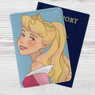 Disney Princess Aurora Custom Leather Passport Wallet Case Cover