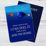Dory and Nemo Quotes Custom Leather Passport Wallet Case Cover