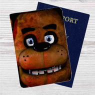 Freddy Fazbear Face Custom Leather Passport Wallet Case Cover