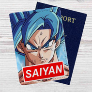 Goku Super Saiyan God Custom Leather Passport Wallet Case Cover