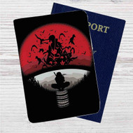 Itachi Uchiha Clan Naruto Shippuden Custom Leather Passport Wallet Case Cover