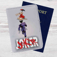 Joker Harley Quinn as Akira Custom Leather Passport Wallet Case Cover