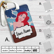 Ariel The Little Mermaid Disney Custom Leather Luggage Tag