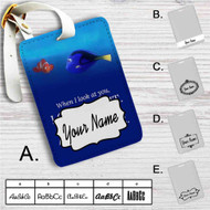 Dory and Nemo Quotes Custom Leather Luggage Tag