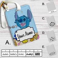 Dory and Stitch Disney Custom Leather Luggage Tag
