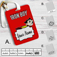 Iron Boy Iron Man Astroboy Custom Leather Luggage Tag