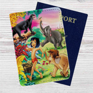 Mowgli and His Friends Custom Leather Passport Wallet Case Cover