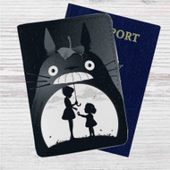 My Neighbor Totoro Custom Leather Passport Wallet Case Cover