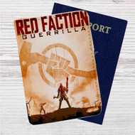 Red Faction Guerrilla Custom Leather Passport Wallet Case Cover