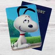Snoopy Close-up Custom Leather Passport Wallet Case Cover