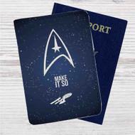 Star Trek Make it So Custom Leather Passport Wallet Case Cover