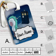 Spirited Away Doctor Who Police Box Custom Leather Luggage Tag