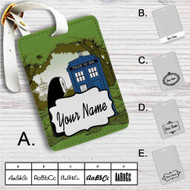 Spirited Away No Face Police Box Custom Leather Luggage Tag