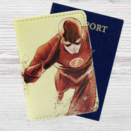 The Flash Art Custom Leather Passport Wallet Case Cover