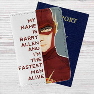 The Flash Quotes Custom Leather Passport Wallet Case Cover