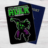 The Incredible Hulk Hogan Custom Leather Passport Wallet Case Cover
