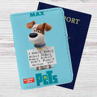 The Secret Life of Pets Max Custom Leather Passport Wallet Case Cover