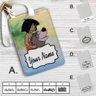 The Jungle Book Baloo and Mowgli Custom Leather Luggage Tag