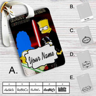 The Simpsons Bart Vader Star Wars Custom Leather Luggage Tag