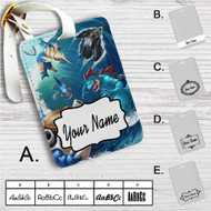 Water type Pokémon Custom Leather Luggage Tag