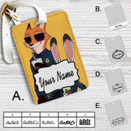 Zootopia Nick and Judy Police Custom Leather Luggage Tag