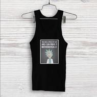 Rick Quotes Rick and Morty Custom Men Woman Tank Top T Shirt Shirt