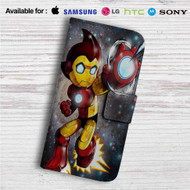 Astro Boy Iron Man Stark Industries Custom Leather Wallet iPhone 4/4S 5S/C 6/6S Plus 7| Samsung Galaxy S4 S5 S6 S7 Note 3 4 5| LG G2 G3 G4| Motorola Moto X X2 Nexus 6| Sony Z3 Z4 Mini| HTC ONE X M7 M8 M9 Case