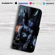 Batman Arkham City Custom Leather Wallet iPhone 4/4S 5S/C 6/6S Plus 7| Samsung Galaxy S4 S5 S6 S7 Note 3 4 5| LG G2 G3 G4| Motorola Moto X X2 Nexus 6| Sony Z3 Z4 Mini| HTC ONE X M7 M8 M9 Case