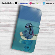 Disney Stitch Custom Leather Wallet iPhone 4/4S 5S/C 6/6S Plus 7| Samsung Galaxy S4 S5 S6 S7 Note 3 4 5| LG G2 G3 G4| Motorola Moto X X2 Nexus 6| Sony Z3 Z4 Mini| HTC ONE X M7 M8 M9 Case