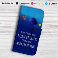 Dory and Nemo Quotes Custom Leather Wallet iPhone 4/4S 5S/C 6/6S Plus 7| Samsung Galaxy S4 S5 S6 S7 Note 3 4 5| LG G2 G3 G4| Motorola Moto X X2 Nexus 6| Sony Z3 Z4 Mini| HTC ONE X M7 M8 M9 Case