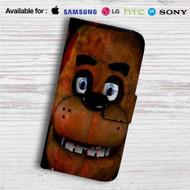 Freddy Fazbear Face Custom Leather Wallet iPhone 4/4S 5S/C 6/6S Plus 7| Samsung Galaxy S4 S5 S6 S7 Note 3 4 5| LG G2 G3 G4| Motorola Moto X X2 Nexus 6| Sony Z3 Z4 Mini| HTC ONE X M7 M8 M9 Case