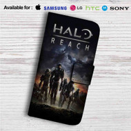Halo Reach Custom Leather Wallet iPhone 4/4S 5S/C 6/6S Plus 7| Samsung Galaxy S4 S5 S6 S7 Note 3 4 5| LG G2 G3 G4| Motorola Moto X X2 Nexus 6| Sony Z3 Z4 Mini| HTC ONE X M7 M8 M9 Case