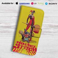 Harley Quinn and Stitch Custom Leather Wallet iPhone 4/4S 5S/C 6/6S Plus 7| Samsung Galaxy S4 S5 S6 S7 Note 3 4 5| LG G2 G3 G4| Motorola Moto X X2 Nexus 6| Sony Z3 Z4 Mini| HTC ONE X M7 M8 M9 Case