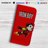 Iron Boy Iron Man Astroboy Custom Leather Wallet iPhone 4/4S 5S/C 6/6S Plus 7| Samsung Galaxy S4 S5 S6 S7 Note 3 4 5| LG G2 G3 G4| Motorola Moto X X2 Nexus 6| Sony Z3 Z4 Mini| HTC ONE X M7 M8 M9 Case