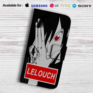 Lelouch Lamperouge Code Geass Custom Leather Wallet iPhone 4/4S 5S/C 6/6S Plus 7| Samsung Galaxy S4 S5 S6 S7 Note 3 4 5| LG G2 G3 G4| Motorola Moto X X2 Nexus 6| Sony Z3 Z4 Mini| HTC ONE X M7 M8 M9 Case