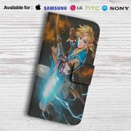 Link Zelda Wii U Custom Leather Wallet iPhone 4/4S 5S/C 6/6S Plus 7| Samsung Galaxy S4 S5 S6 S7 Note 3 4 5| LG G2 G3 G4| Motorola Moto X X2 Nexus 6| Sony Z3 Z4 Mini| HTC ONE X M7 M8 M9 Case