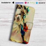 Mega Lucario Pokemon Custom Leather Wallet iPhone 4/4S 5S/C 6/6S Plus 7| Samsung Galaxy S4 S5 S6 S7 Note 3 4 5| LG G2 G3 G4| Motorola Moto X X2 Nexus 6| Sony Z3 Z4 Mini| HTC ONE X M7 M8 M9 Case